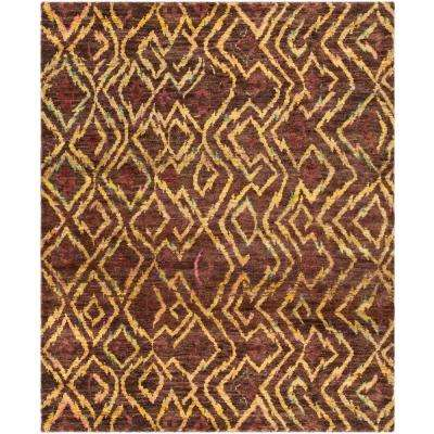 Bohemian Brown/Gold 8 ft. x 10 ft. Area Rug