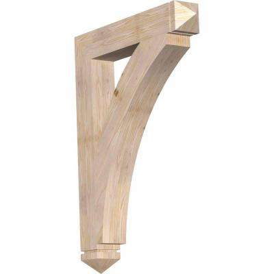 5.5 in. x 48 in. x 36 in. Douglas Fir Thorton Arts and Crafts Smooth Bracket