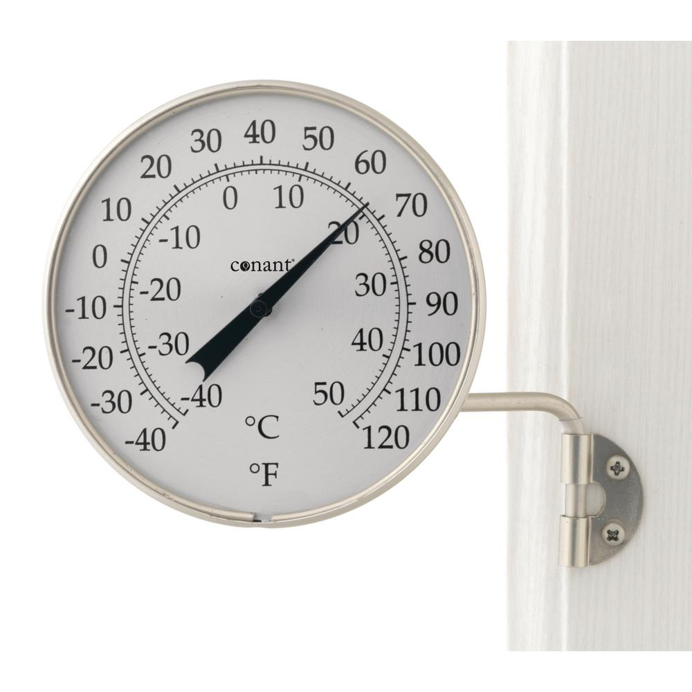 Decor Dial Thermometer in Satin Nickel