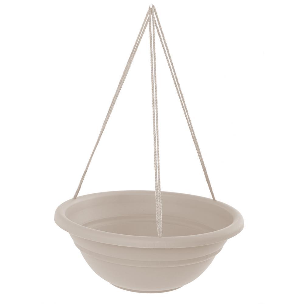 17 x 6.5 Taupe Milano Plastic Hanging Basket