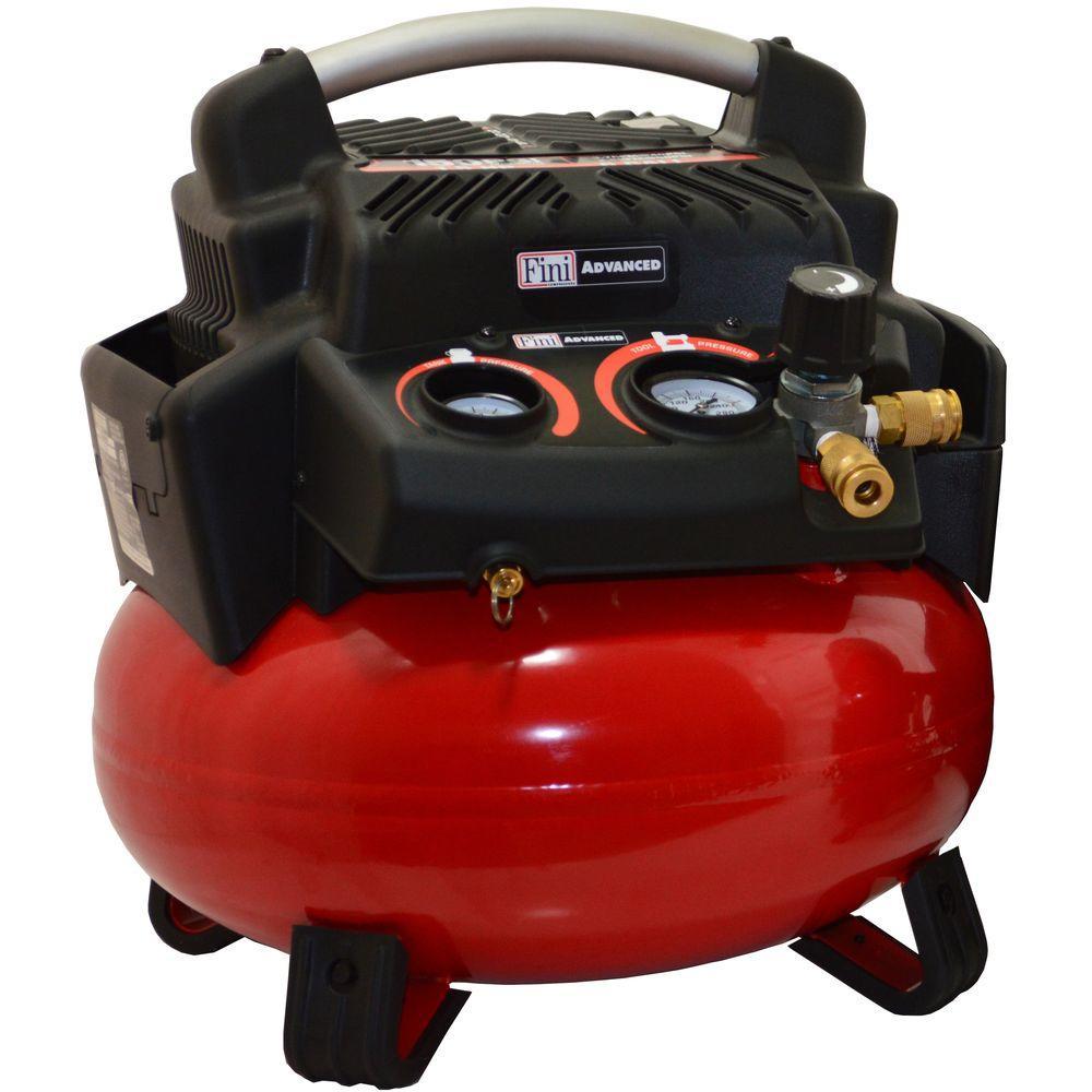 1.5 HP 6 Gal. 150 PSI Portable Electric Pancake Air Compr...