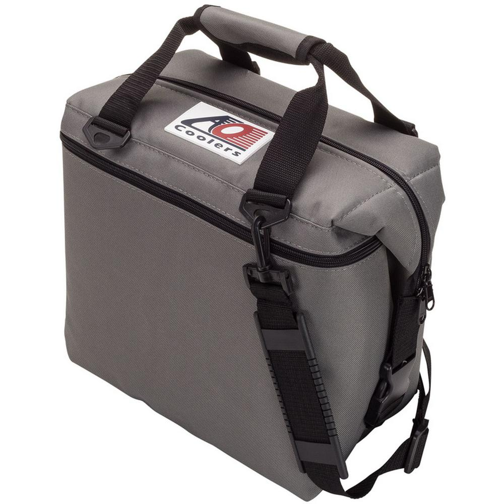 12 Qt. Soft Canvas Cooler with Shoulder Strap and Wide Outside