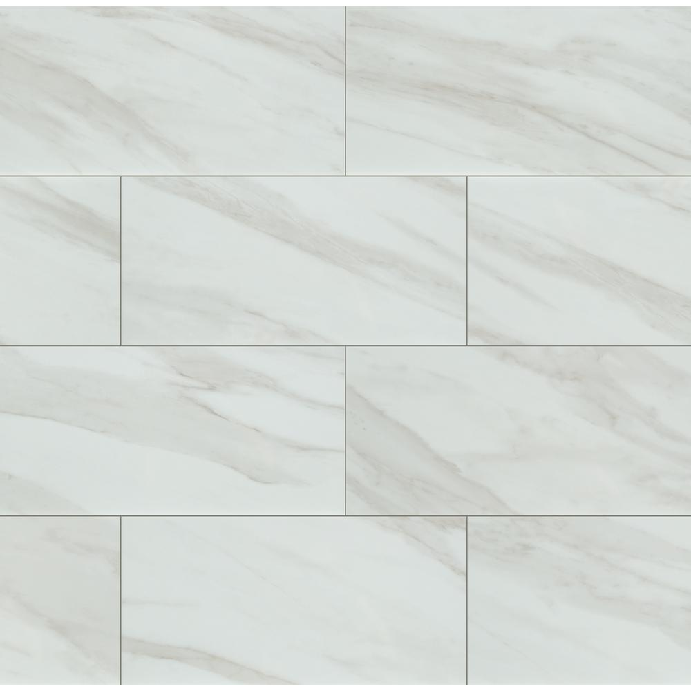 Home Decorators Collection Kolasus White 12 In X 24 In Matte Porcelain Floor And Wall Tile 16 Sq Ft Case Nhdkolwhi1224 The Home Depot