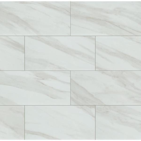 Kolasus White 12 in. x 24 in. Matte Porcelain Floor and Wall Tile (16 sq. ft. /case)