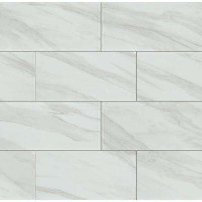 Kolasus White 12 in. x 24 in. Polished Porcelain Floor and Wall Tile (16 sq. ft./case)