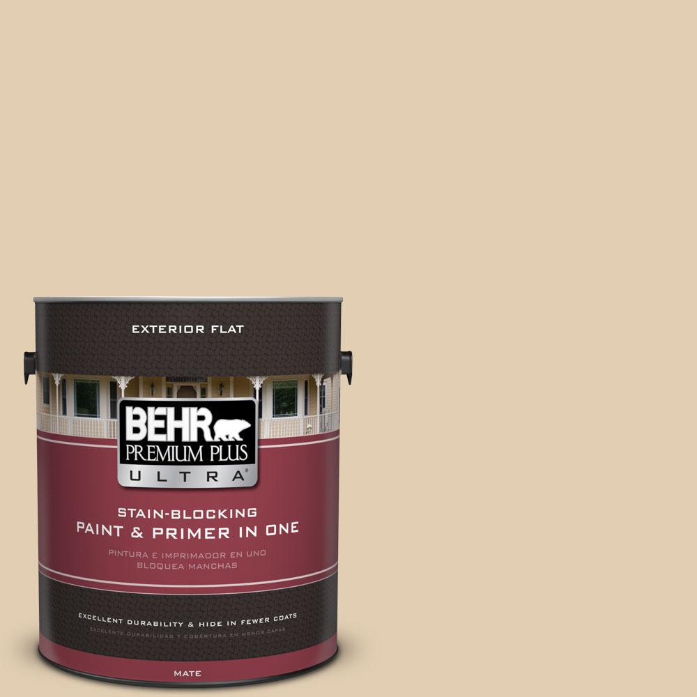 Home Decorators Collection 1-gal. #HDC-AC-09 Concord Buff Flat Exterior Paint