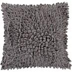 Vivian Grey Solid Polyester 18 in. x 18 in. Throw Pillow