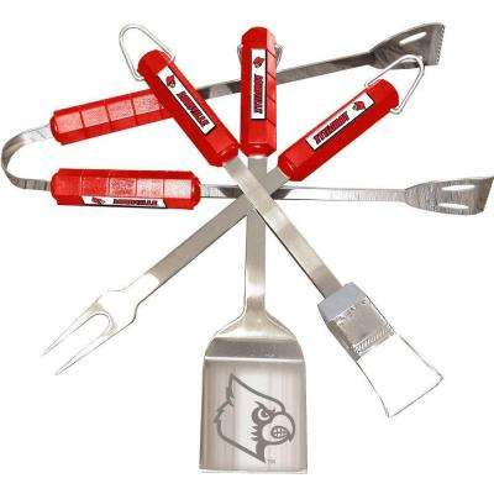 NCAA Louisville Cardinals 4-Piece Grill Tool Set
