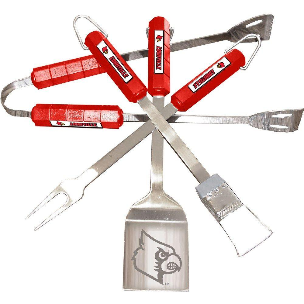 NCAA Louisville Cardinals 4-Piece Grill Tool Set