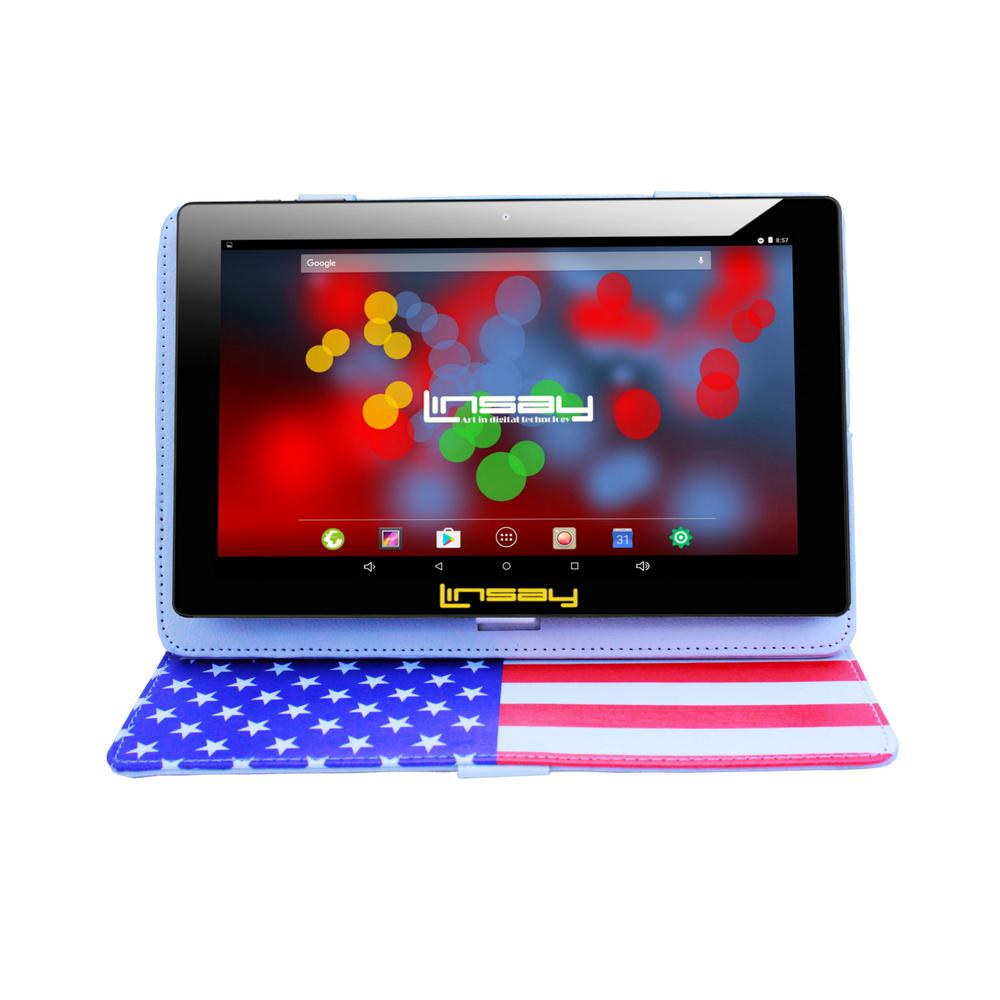 LINSAY 10.1 in. 1280x800 IPS 2GB RAM 16GB Android 9.0 Pie Tablet with USA Style Case was $324.99 now $79.99 (75.0% off)