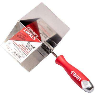 6.5 in. x 11.5 in. Stainless Steel Inside Corner Tool with Soft Grip Handle