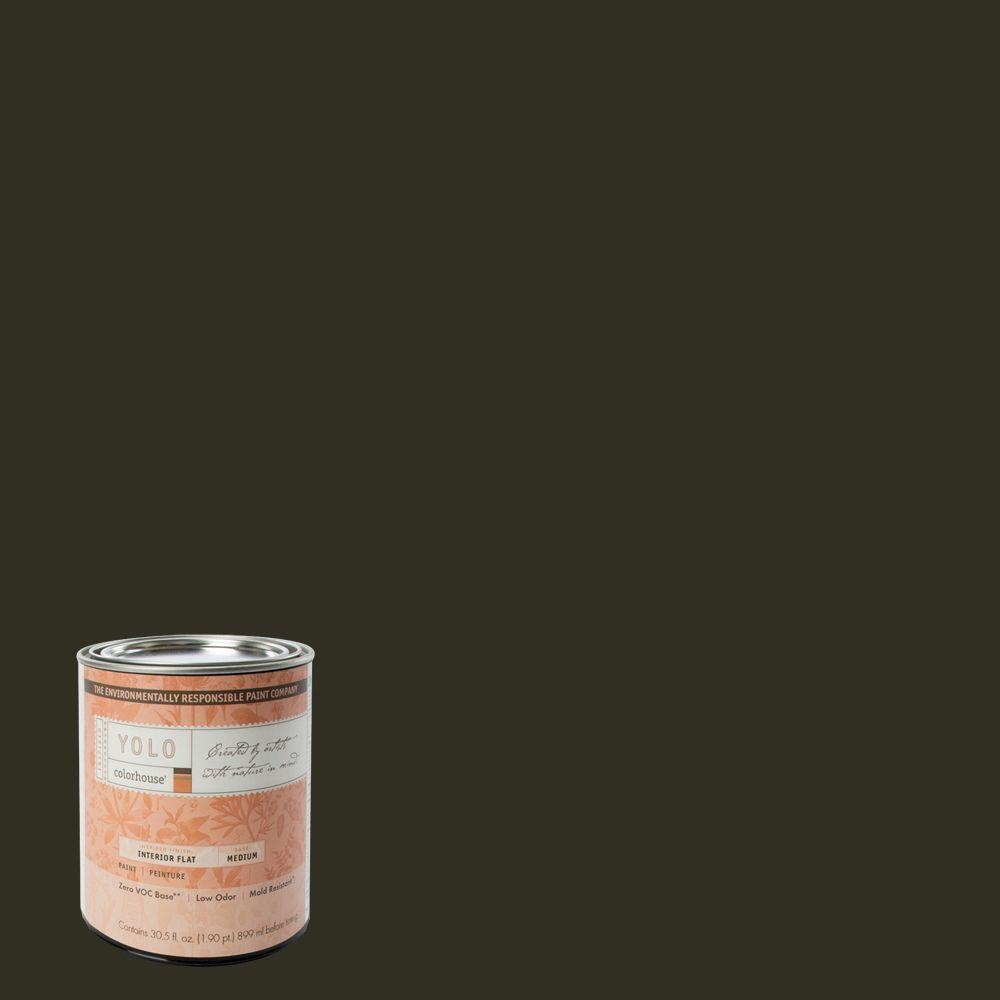 YOLO Colorhouse 1-Qt. Wood .06 Flat Interior Paint-DISCONTINUED