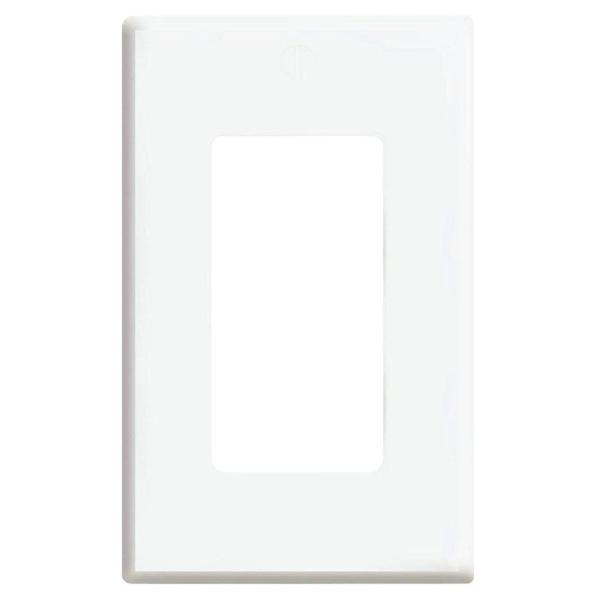 Plus 1-Gang Screwless Snap-On Decora Wall Plate - White