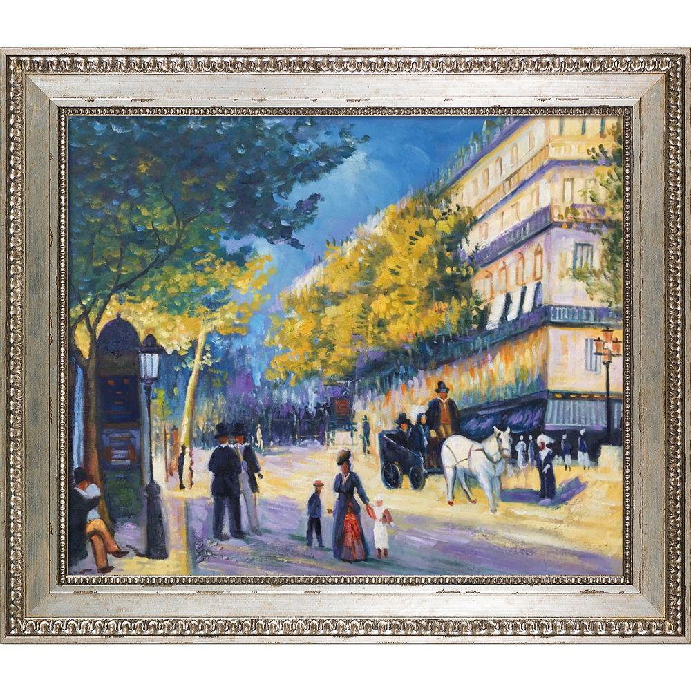 LA PASTICHE The Great Boulevards, 1875 with Versailles Silver KingPierre-Auguste Renoir Framed Abstract Wall Art 26 in. x 30 in., Multi-Colored was $800.0 now $435.73 (46.0% off)