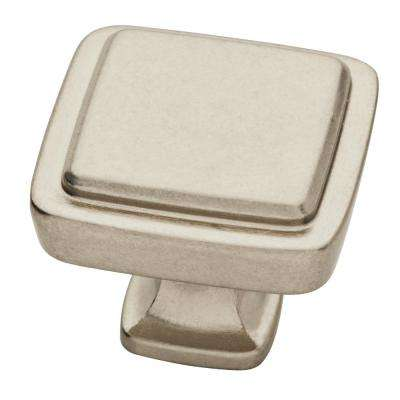 Refined Comfort 1-1/4 in. (32mm) Bedford Nickel Square Cabinet Knob