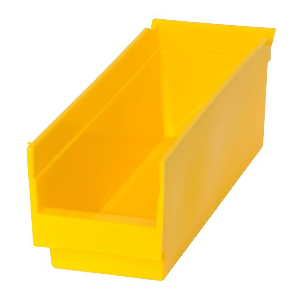 0.83-Gal. Heavy Duty Plastic Storage Bin in Yellow (48-Pack)