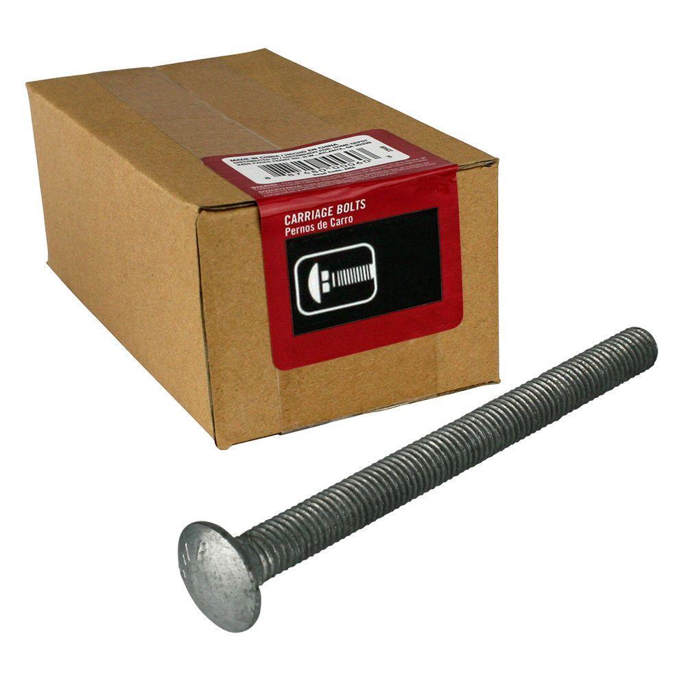 Everbilt 3/8 inch - 16 tpi x 5 inch Galvanized Coarse Thread Carriage Bolt (25-Piece per Box) by Everbilt
