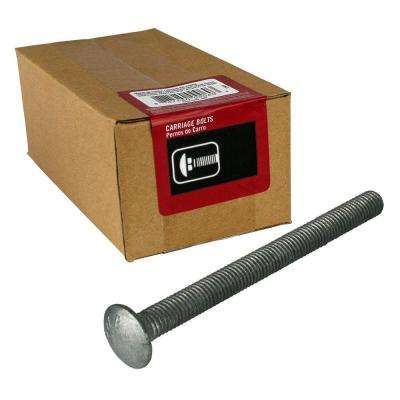 10-Pack A307 Grade A Zinc Plated Steel Prime-Line 9064065 Carriage Bolts 3//8 in.-16 X 8 in.