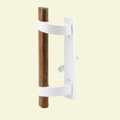 White Diecast, Sliding Door Handle with Mortise Lock