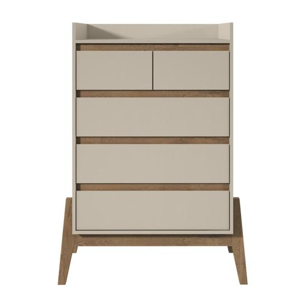 Manhattan Comfort Essence 48.23 in. Tall 4-Drawer Off White Dresser 350844