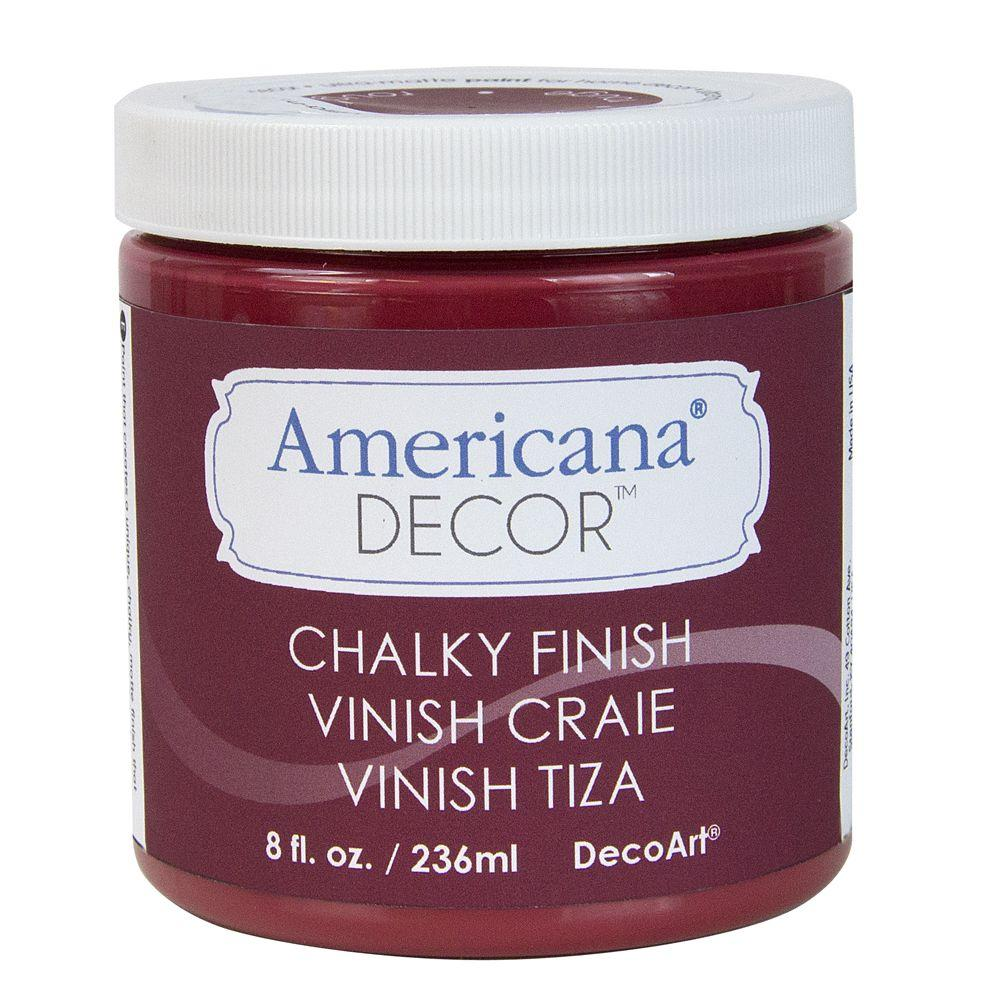 Decoart Americana Decor 8 Oz Rouge Chalky Paint