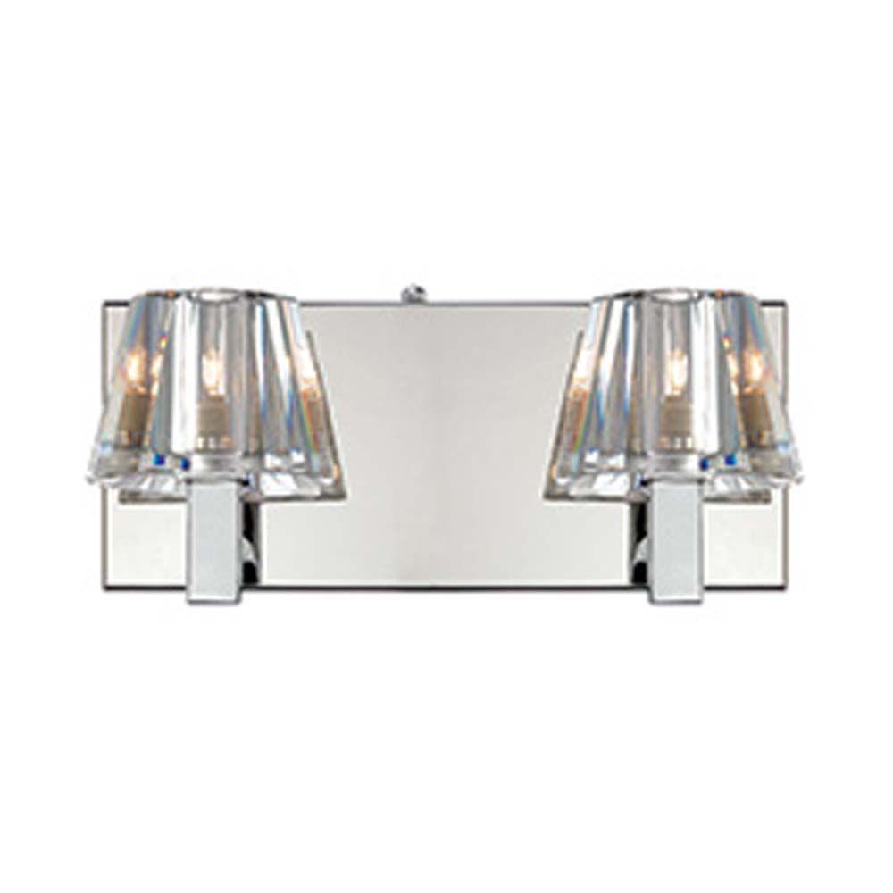 Filament Design Spectra 2-Light Chrome Halogen Wall Vanity