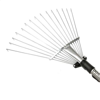 Roof Rake Extension Pole Attachment, Adjustable Roof Rake for Cleaning Leaves, Sticks and Debris (Pole Not Included)