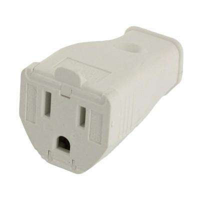 15 Amp 125-Volt 3-Wire Grounding Connector, White