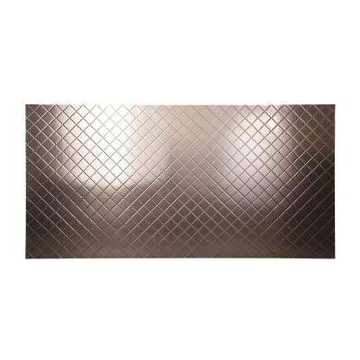 96 in. x 48 in. Quilted Decorative Wall Panel in Brushed Nickel