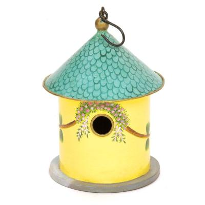 12 in. Tall Hand Painted Bastion Cottage Birdhouse