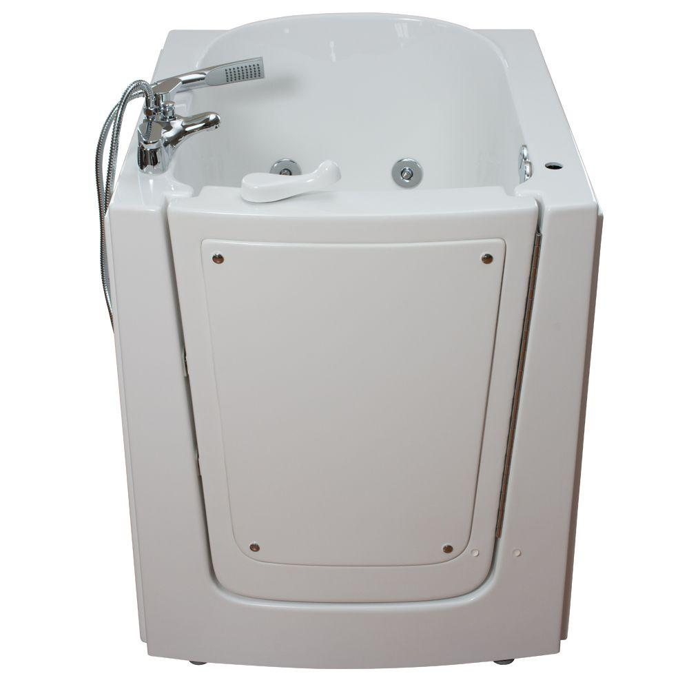 Ella Front Entry 2.75 ft. x 38 in. Walk-In Bathtub in White with Right Hinge Outswing Door