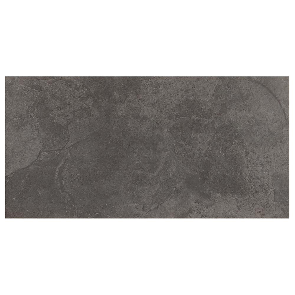 Daltile Cascade Ridge Slate 12 in. x 24 in. Ceramic Floor and Wall ...