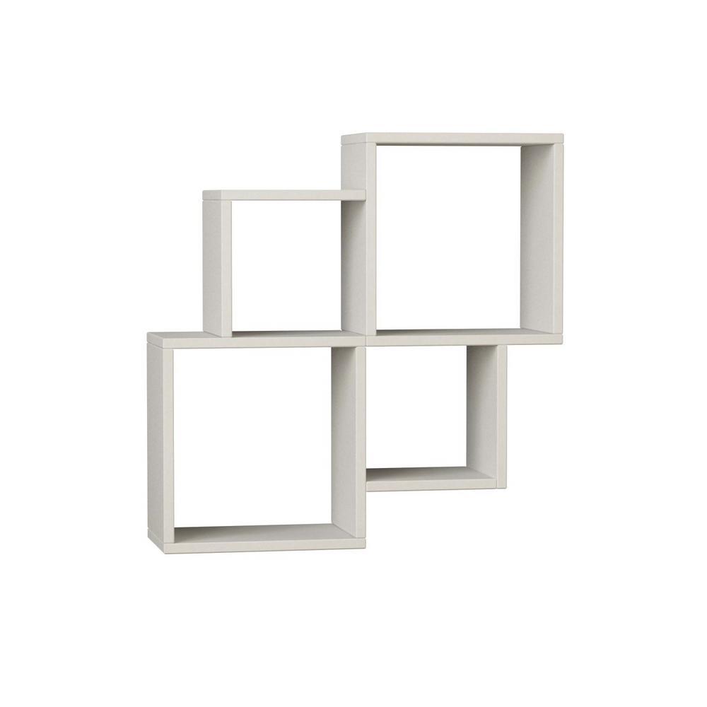 Ada Home Decor Watkins White Mid-Century Modern Wall Shelf