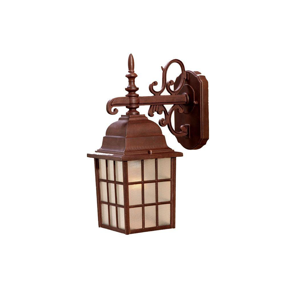 Nautica Collection 1-Light Burled Walnut Outdoor Wall-Mount Light Fixture