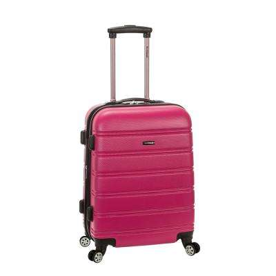 Melbourne 20 in. Expandable Carry on Hardside Spinner Luggage, Magenta