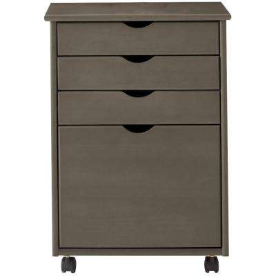 Stanton 20 in. W 4-File Storage Cart in Antique Grey
