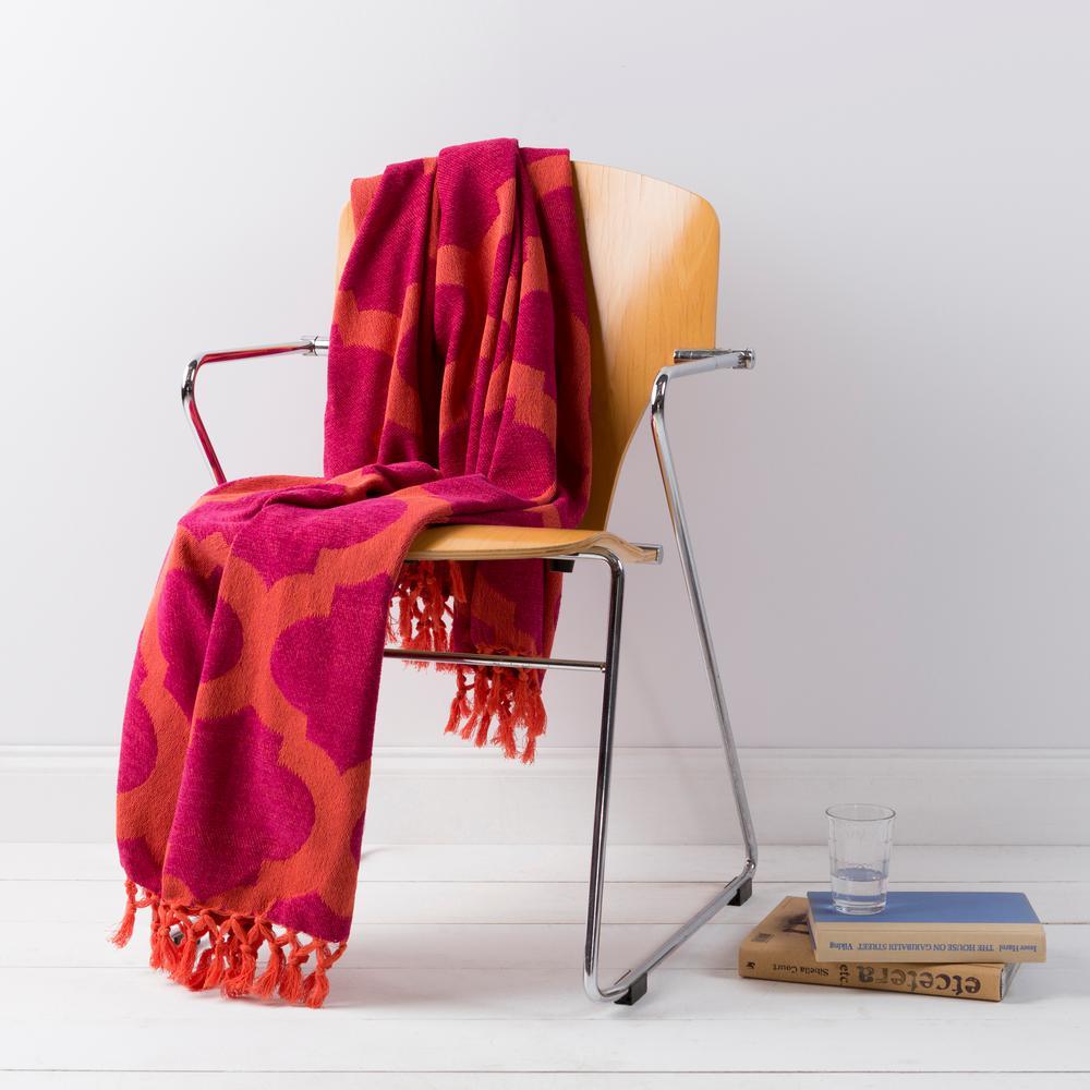 Mallory Tangerine Cotton Throw