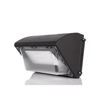 450-Watt Equivalent Integrated LED Matte Black Outdoor Wall Pack Light