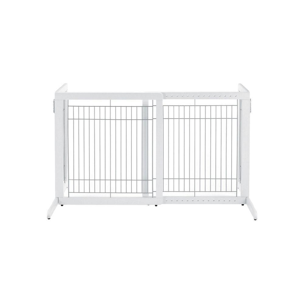 Richell HS Wood Freestanding Pet Gate in White