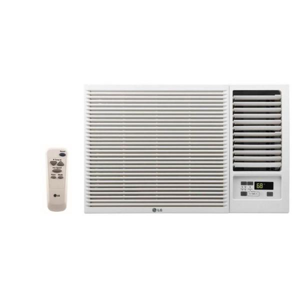 23,000 BTU 230/208-Volt Window Air Conditioner with Cool, Heat and Remote in White