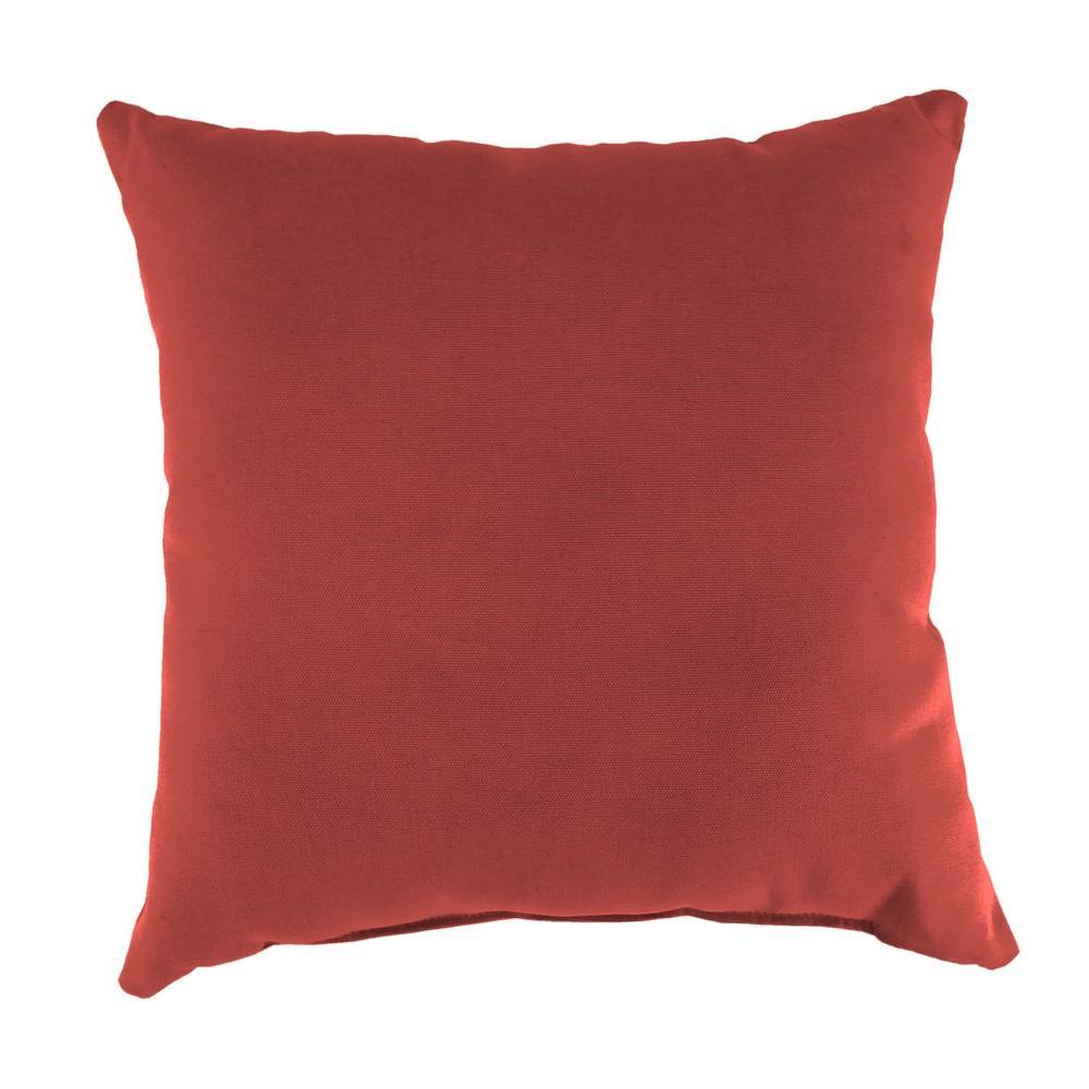 Sunbrella Canvas Henna Square Outdoor Throw Pillow