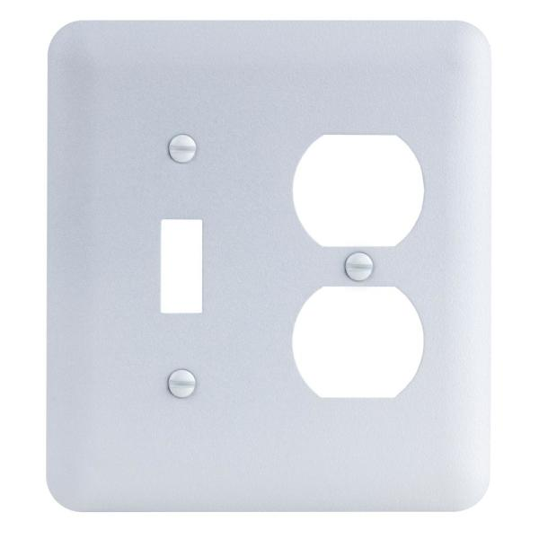 White 2-Gang 2-Toggle/1-Duplex Wall Plate (1-Pack)