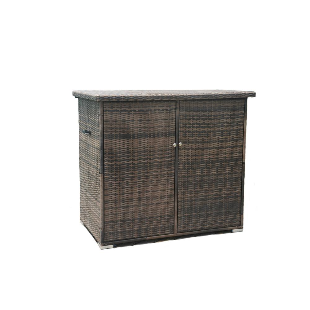 Kate 290 Gal. All Weather Resin Storage Wicker Deck Box in