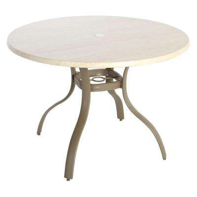 Superior Westin Commercial, Contract Grade 40 In. Round Werzalit Patio Top Dining  Table