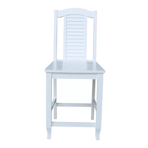 24 in. H White Seaside Counter Height Stool