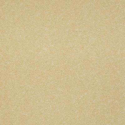 Carpet Sample - Enraptured II - Color Whisper Yellow Texture 8 in. x 8 in.
