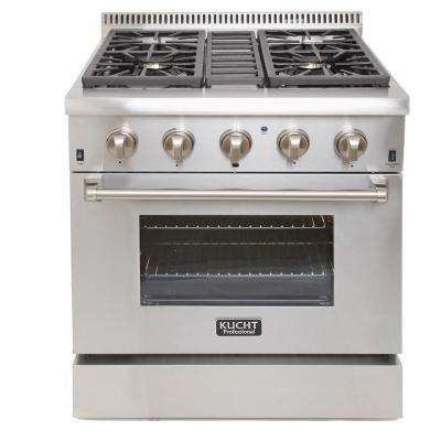 Professional Style 30 in. 4.2 cu. ft. Propane Dual Fuel Range with Sealed Burners and Convection Oven in Stainless Steel
