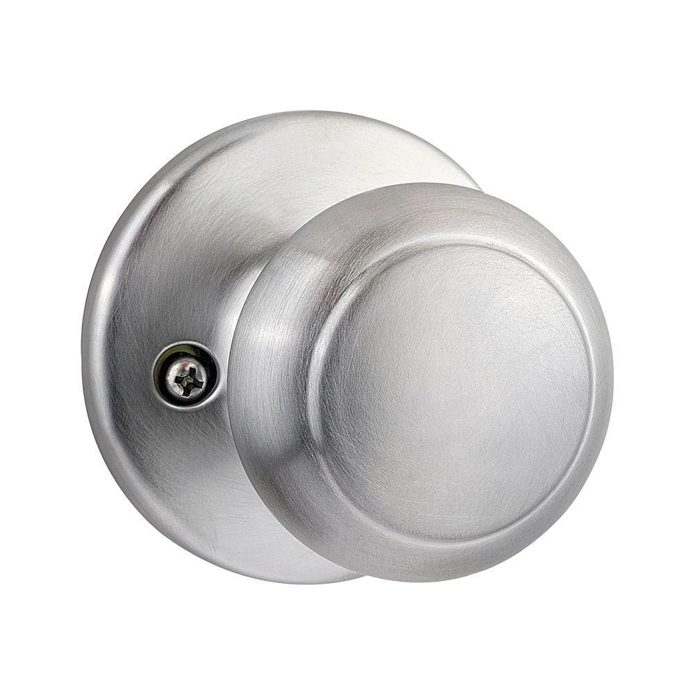 Kwikset Cove Satin Chrome Half-Dummy Knob
