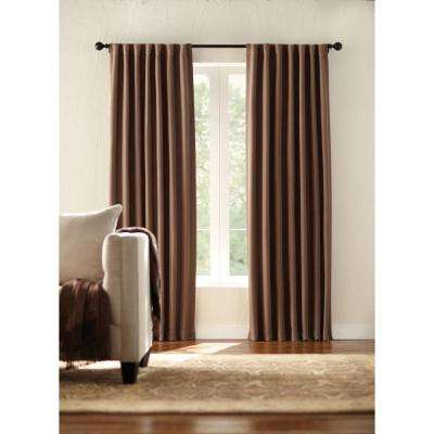 Semi-Opaque Mocha Room Darkening Back Tab Curtain