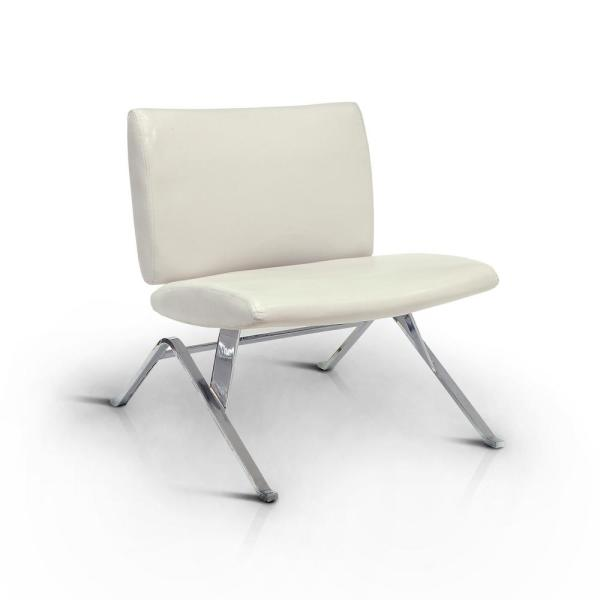 Jolie White Leather Accent Side Chair